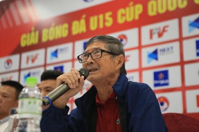 HLV 70 tuổi tái xuất sân cỏ ở VCK U15 Cup Quốc gia, tám đội tham dự quyết tâm đạt mục tiêu cao nhất - Ảnh 2.
