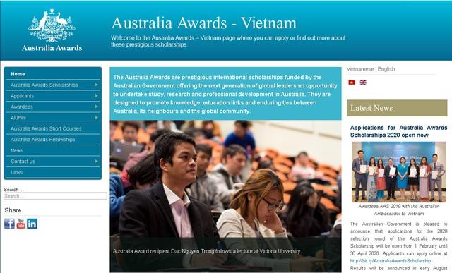Tuyển sinh 50 suất học bổng Chính phủ Úc dành cho Việt Nam - Ảnh 1.