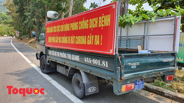 Đà Nẵng lập chốt chặn không cho người dân và du khách lên bán đảo Sơn Trà để phòng chống dịch Covid-19 - Ảnh 7.