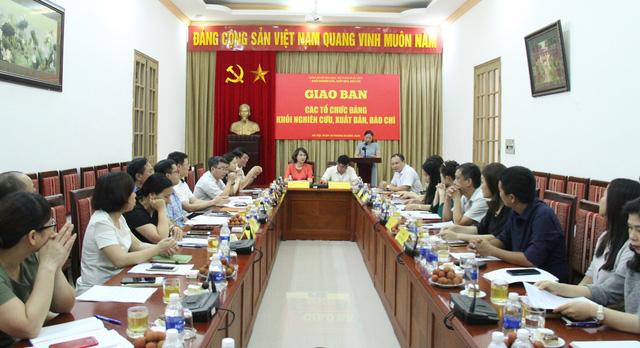 Giao ban các tổ chức Đảng Khối Nghiên cứu, Xuất bản, Báo chí - Ảnh 5.