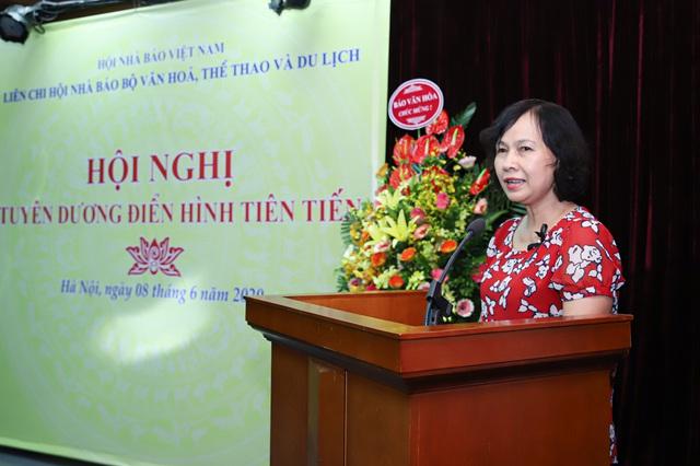 Liên Chi hội Nhà báo Bộ VHTTDL tổ chức Hội nghị tuyên dương điển hình tiên tiến - Ảnh 2.