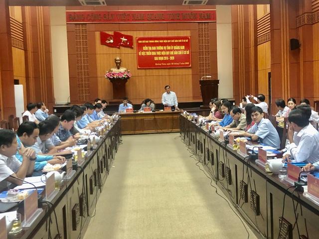 Trưởng ban Dân vận Trung ương Trương Thị Mai làm việc tại Quảng Nam - Ảnh 1.