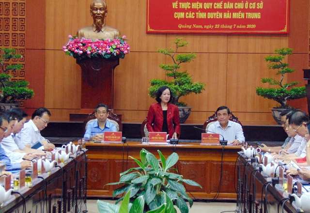 Trưởng ban Dân vận Trung ương Trương Thị Mai làm việc tại Quảng Nam - Ảnh 2.