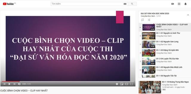 Bình chọn video-clip hay nhất của Cuộc thi Đại sứ Văn hóa đọc năm 2020 - Ảnh 1.