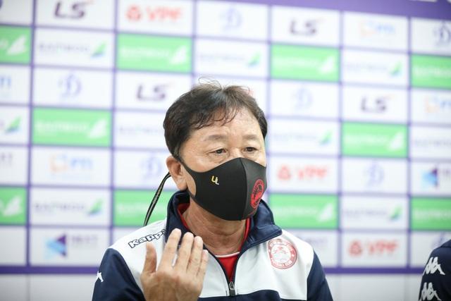 """HLV Chung Hae-seong: """"Hà Nội FC mạnh nhưng chúng tôi không ngại"""" - Ảnh 1."""
