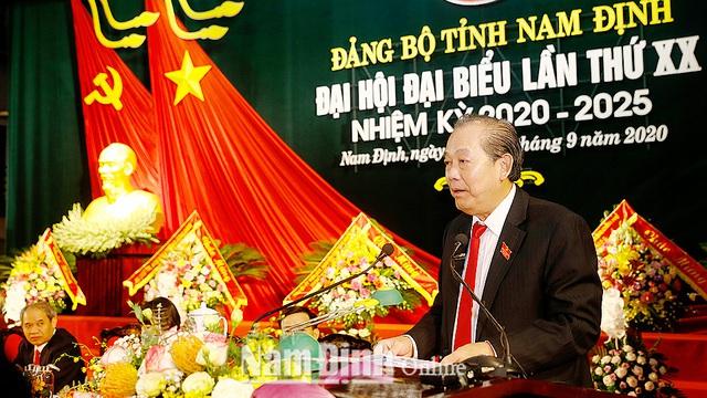 Phó Thủ tướng Trương Hòa Bình chỉ đạo Đại hội Đảng bộ tỉnh Nam Định - Ảnh 1.