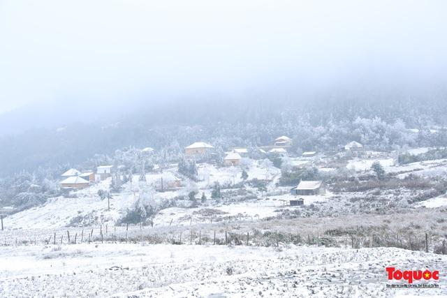 Cận cảnh băng tuyết phủ trắng các triền nùi ở Y Tý - Ảnh 1.