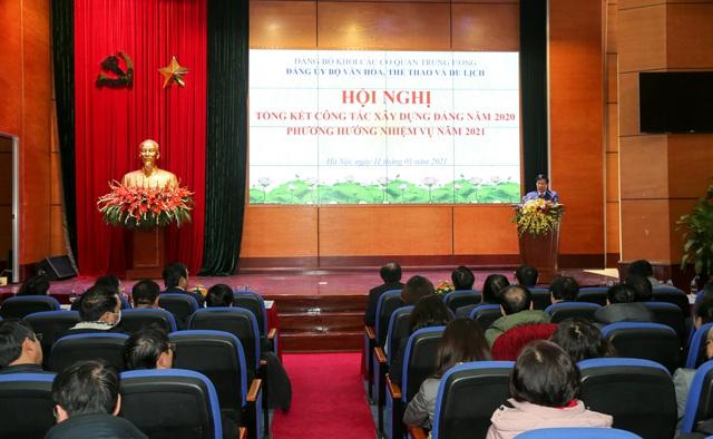 Đảng ủy Bộ VHTTDL tổng kết công tác xây dựng Đảng năm 2020 - Ảnh 5.