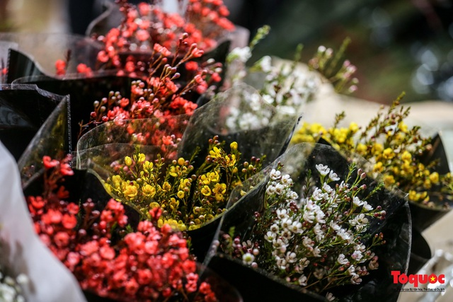 Nhộn nhịp chợ hoa đêm ngày đầu tháng Chạp - Ảnh 9.