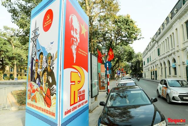 Đường phố Hà Nội trang trí rực rỡ chào mừng Đại hội đại biểu toàn quốc lần thứ XIII của Đảng - Ảnh 6.