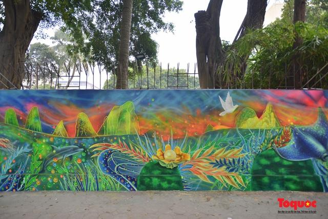Khánh thành dự án tranh tường 'Môi trường sạch-Hành tinh xanh' tại Hà Nội - Ảnh 3.