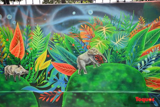 Khánh thành dự án tranh tường 'Môi trường sạch-Hành tinh xanh' tại Hà Nội - Ảnh 8.