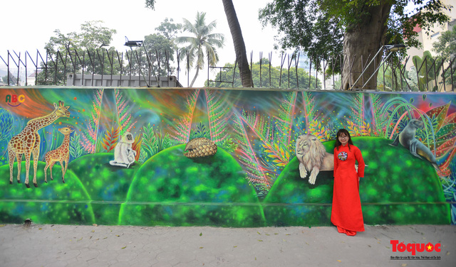 Khánh thành dự án tranh tường 'Môi trường sạch-Hành tinh xanh' tại Hà Nội - Ảnh 5.