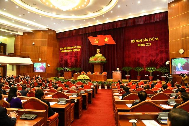 Bế mạc Hội nghị lần thứ 15 Ban Chấp hành Trung ương Đảng khóa XII - Ảnh 1.