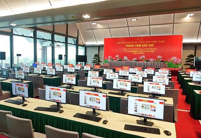 Trung tâm Báo chí Đại hội XIII đáp ứng yêu cầu tác nghiệm cho hơn 560 phóng viên, kỹ thuật viên - Ảnh 2.