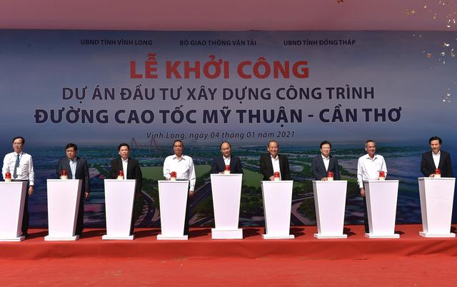 Thủ tướng phát lệnh khởi công Dự án cao tốc Mỹ Thuận- Cần Thơ - Ảnh 1.