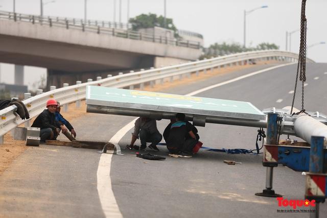 Toàn cảnh nút giao Cổ Linh với cao tốc Hà Nội Hải Phòng hơn 400 tỷ trước ngày thông xe - Ảnh 11.