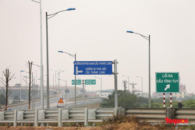 Toàn cảnh nút giao Cổ Linh với cao tốc Hà Nội Hải Phòng hơn 400 tỷ trước ngày thông xe - Ảnh 13.