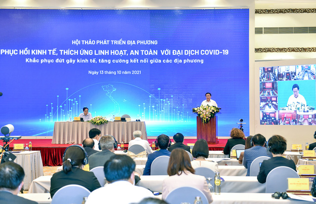Thủ tướng chủ trì Hội thảo phục hồi kinh tế, thích ứng linh hoạt, an toàn với đại dịch - Ảnh 2.