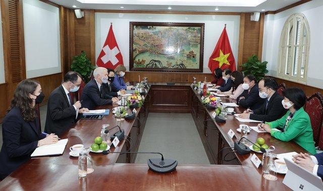Thúc đẩy hợp tác VHTTDL giữa Việt Nam - Thụy Sỹ  - Ảnh 1.