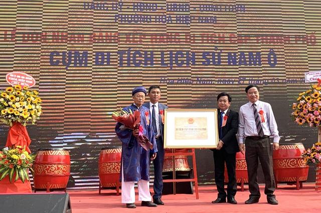 Cụm di tích lịch sử Nam Ô đón nhận Bằng xếp hạng di tích cấp thành phố - Ảnh 1.