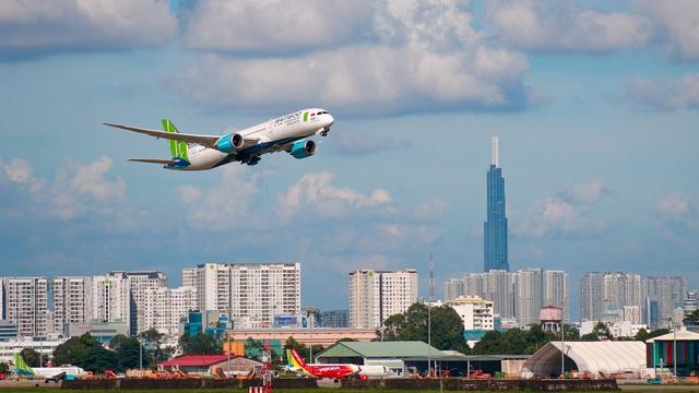 Bamboo Airways bay đúng giờ nhất toàn ngành 3 tháng đầu năm - Ảnh 1.
