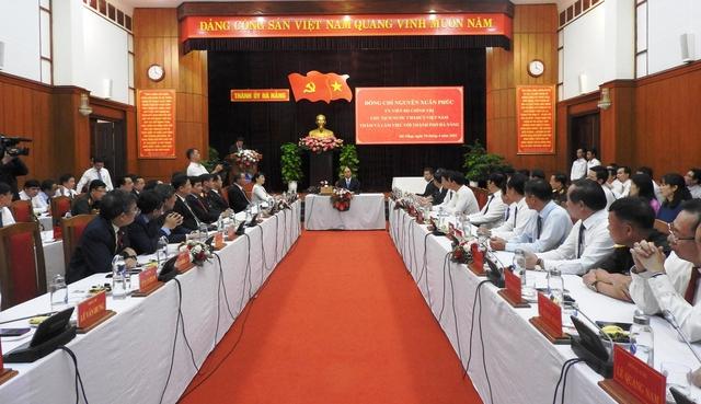 Chủ tịch nước Nguyễn Xuân Phúc làm việc với TP Đà Nẵng và tỉnh Quảng Nam - Ảnh 1.
