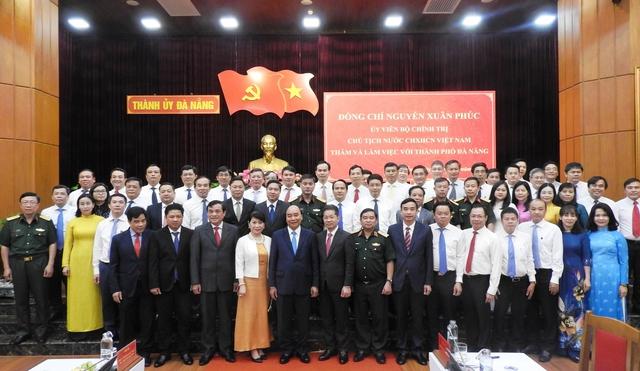 Chủ tịch nước Nguyễn Xuân Phúc làm việc với TP Đà Nẵng và tỉnh Quảng Nam - Ảnh 3.