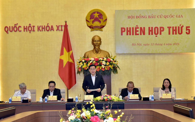Chủ tịch Quốc hội Vương Đình Huệ chủ trì phiên họp thứ 5, Hội đồng bầu cử quốc gia - Ảnh 1.