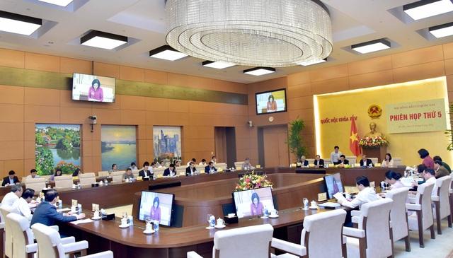 Chủ tịch Quốc hội Vương Đình Huệ chủ trì phiên họp thứ 5, Hội đồng bầu cử quốc gia - Ảnh 2.