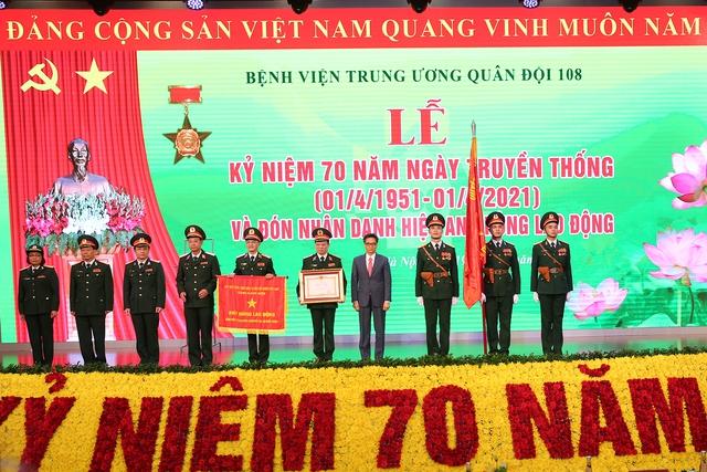 Tổng Bí thư Nguyễn Phú Trọng dự lễ kỷ niệm 70 năm Ngày Truyền thống Bệnh viện Trung ương Quân đội 108 - Ảnh 4.
