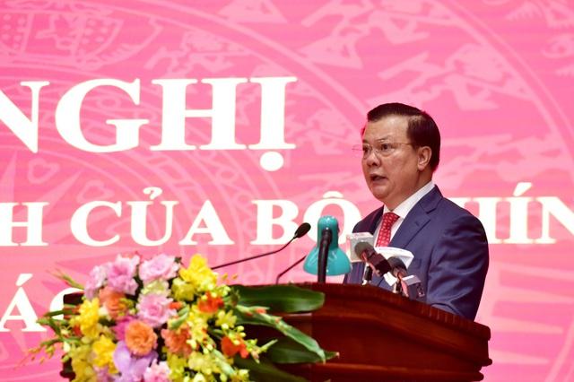 Công bố quyết định phân công ông Đinh Tiến Dũng làm Bí thư Thành ủy Hà Nội - Ảnh 2.