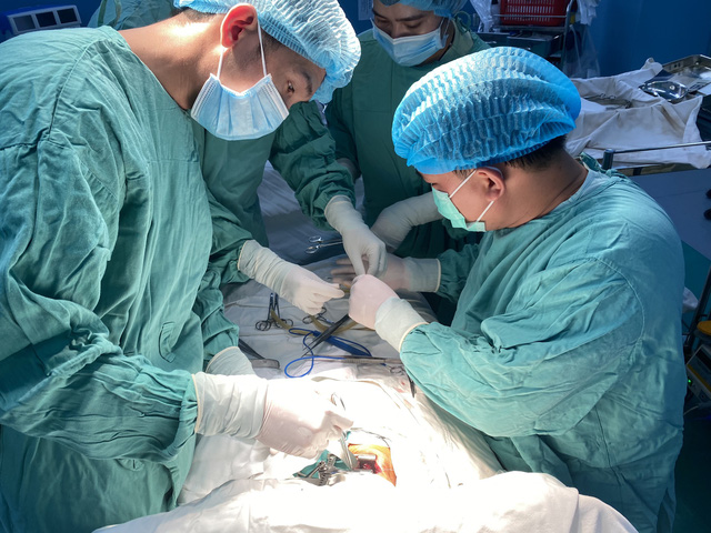 Phẫu thuật thành công, cứu sống bé sơ sinh bị teo thực quản hiếm gặp - Ảnh 1.