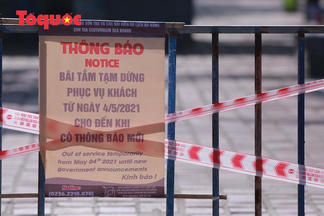 Biển Đà Nẵng vắng hoe, tạm đóng cửa bán đảo Sơn Trà - Ảnh 10.