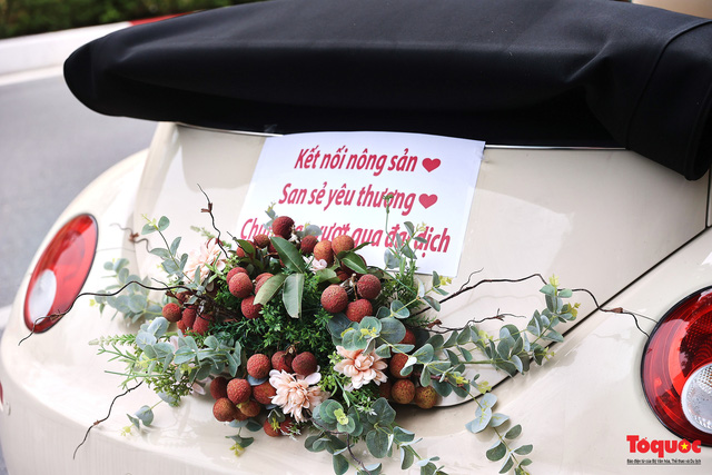 Xe Volkswagen Beetle được trang trí bằng 30kg vải thiều xuất hiện trên phố Hà Nội  - Ảnh 5.