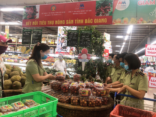 Kết nối tiêu thụ vải thiều Bắc Giang trong siêu thị Mega Market Thăng Long, Hà Nội - Ảnh 1.