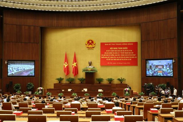 Tổng Bí thư Nguyễn Phú Trọng chủ trì Hội nghị trực tuyến toàn quốc sơ kết 5 năm thực hiện Chỉ thị số 05-CT/TW của Bộ Chính trị khóa XII - Ảnh 3.