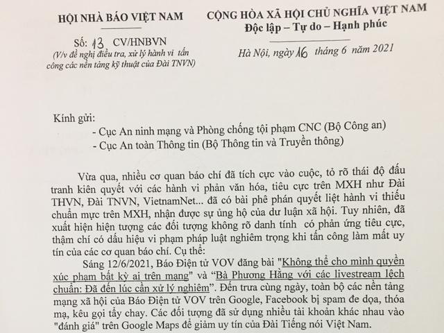 Hội Nhà báo Việt Nam đề nghị điều tra, xử lý nghiêm hành vi tấn công mạng vào Báo Điện tử VOV - Ảnh 1.