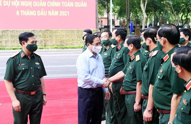 Thủ tướng dự, chỉ đạo tại Hội nghị Quân chính toàn quân - Ảnh 1.