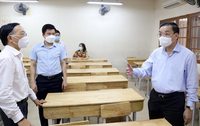 Hà Nội: Bám sát kế hoạch để tổ chức thành công kỳ thi lớp 10 THPT trong điều kiện phòng chống dịch   - Ảnh 1.