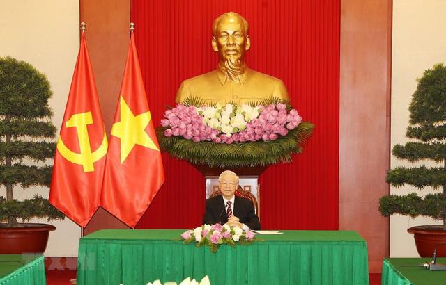 Tổng Bí thư Nguyễn Phú Trọng điện đàm với Tổng thống Hàn Quốc - Ảnh 1.