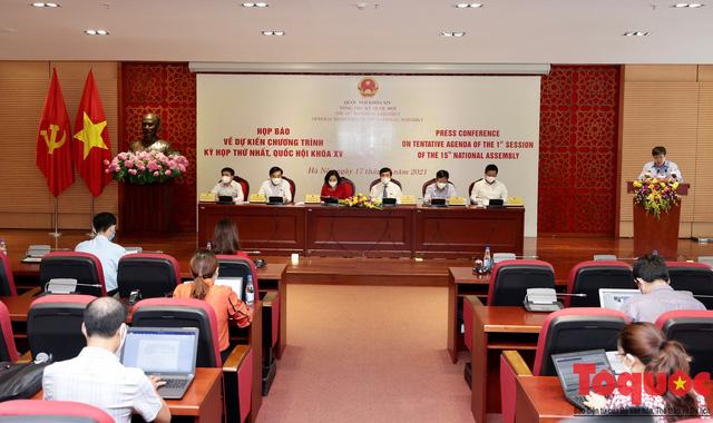 Chuẩn bị nhiều phương án đảm bảo an toàn phòng dịch trong Kỳ họp thứ nhất, Quốc hội khóa XV - Ảnh 1.