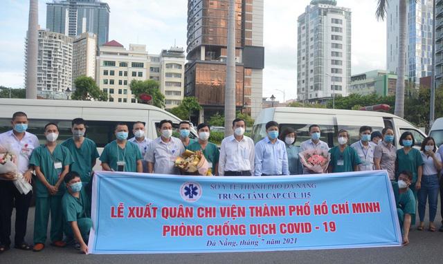 Đà Nẵng thêm 29 ca dương tính SARS-CoV-2; 15 y bác sĩ cùng 5 xe cứu thương lên đường vào hỗ trợ TPHCM chống dịch - Ảnh 2.