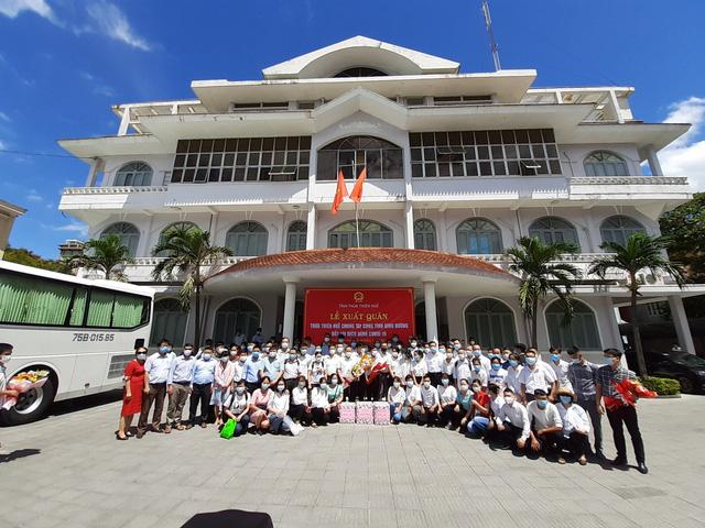 Đoàn y bác sỹ tại Huế lên đường hỗ trợ Bình Dương chống dịch COVID-19 - Ảnh 1.