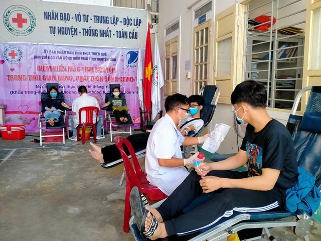 Thừa Thiên Huế triển khai điểm hiến máu cố định giữa mùa dịch COVID-19 - Ảnh 1.