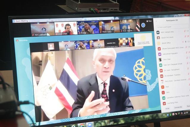 Họp trực tuyến Văn phòng Liên đoàn Thể thao Đông Nam Á: Đi đến tuyên bố chung về củng cố nền tảng vững chắc cho các VĐV trong khu vực - Ảnh 2.