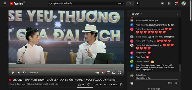 """Đặc sắc chương trình nghệ thuật online """"Cháy lên"""" số thứ 5 với sự tham dự của Hồ Hoài Anh và Lưu Hương Giang  - Ảnh 8."""