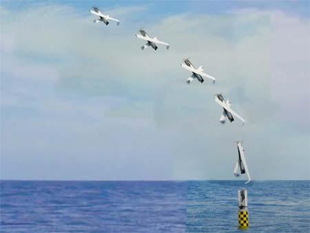 Hình ảnh mô phỏng vụ phóng máy bay không người lái từ tàu ngầm