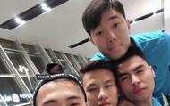 """Xuân Trường và đồng đội lạnh """"co ro"""" khi tới Hàn Quốc"""