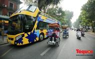 Clip: Trải nghiệm tuyến buýt hai tầng mới ở Hà Nội